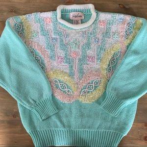 Vintage 80s Fairy Kei Pastel Sweater